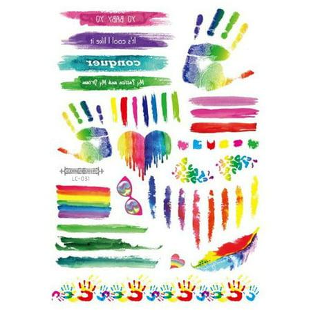 KABOER Rainbow Tattoos Rainbow Stickers Temporary Waterproof Tattoos for Pride Parades and Celebrations](Rainbow Baby Tattoos)
