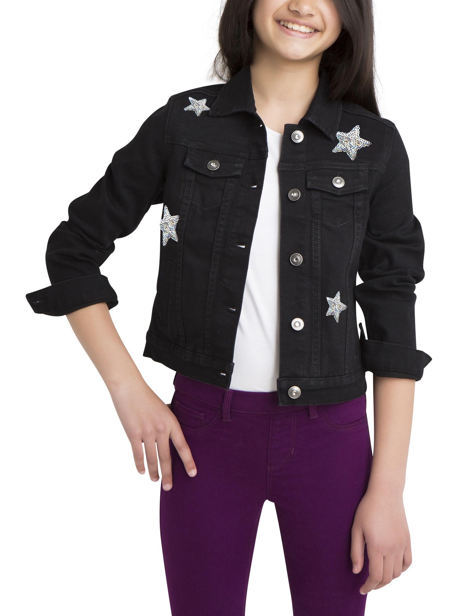 Denim Jacket with Patches (Little Girls & Big Girls)