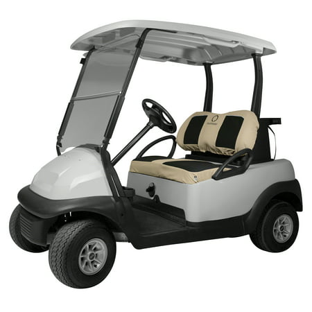 Classic Accessories Fairway Golf Cart Neoprene Bench Seat Cover - - Golf Cart Decorations
