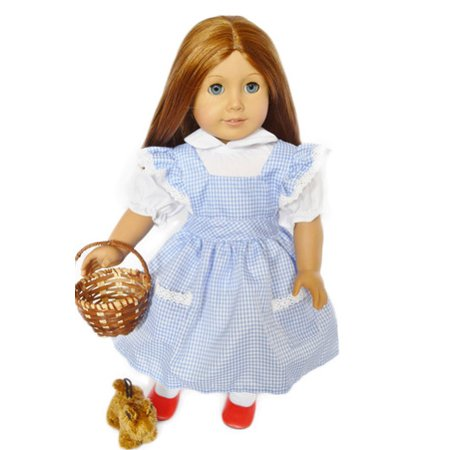 My Brittany S Dorothy Outfit For American Girl Dolls With Toto Basket And Shoes 18 Inch Doll Clothes For American Girl Dolls