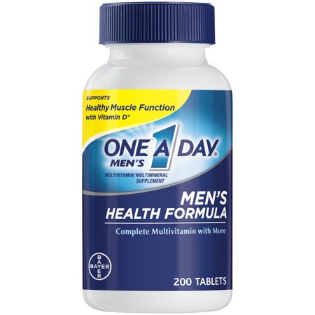 One A Day Men's Health Formula Multivitamin Tablets, 200 Count