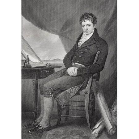 Posterazzi DPI1838848LARGE Robert Fulton 1765 - 1815 American Inventor & Engineer Builder of First Poster Print, Large - 22 x 34 - image 1 of 1
