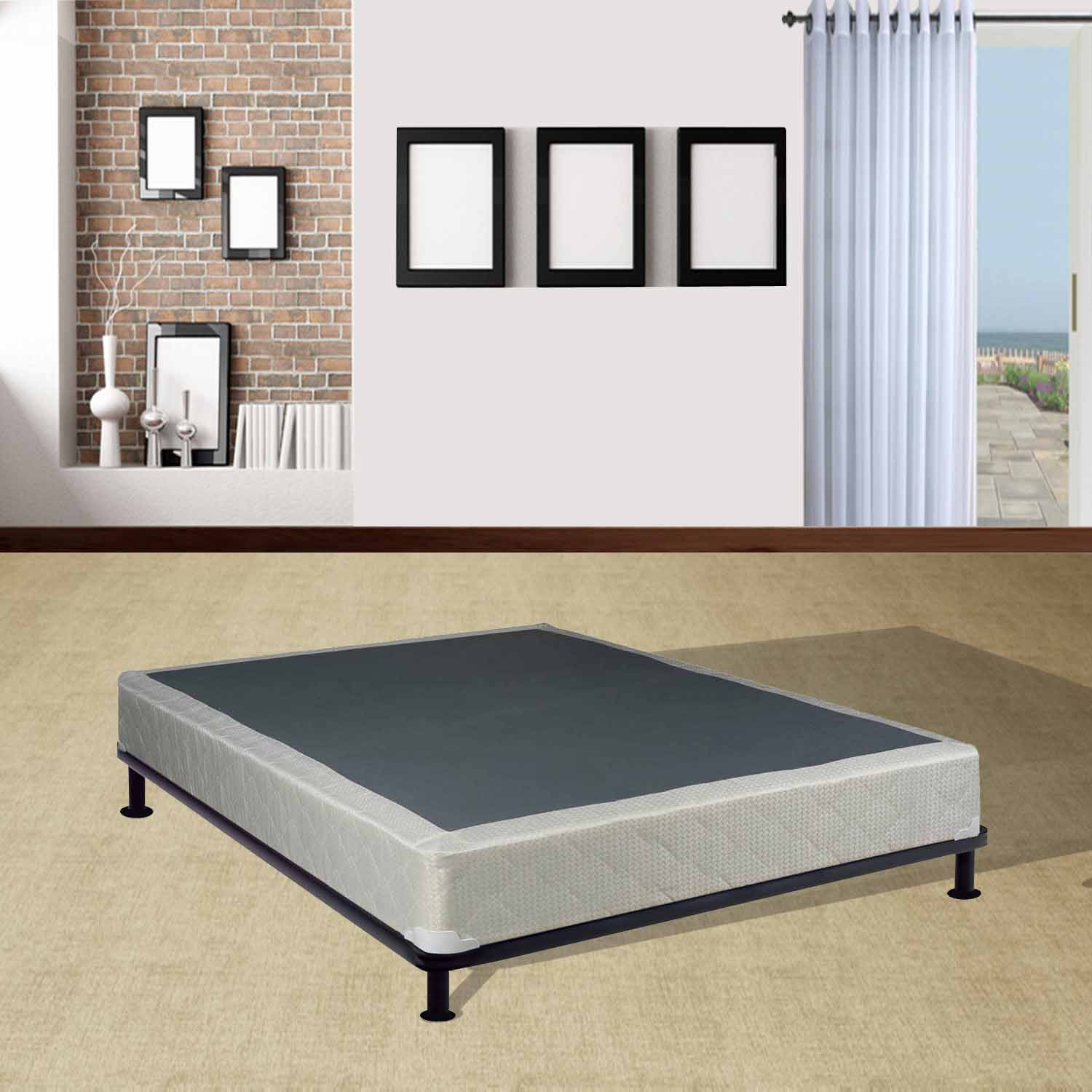 "WAYTON, Fully Assembled Long Lasting 8-Inch Box Spring for Mattress, Twin Size 74"" x 38"""
