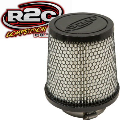 R2C Cleanable Off Road Series Tapered Conical Air Filter 2.75 Inch Outlet 6 Base 5.34 Top 8 Tall