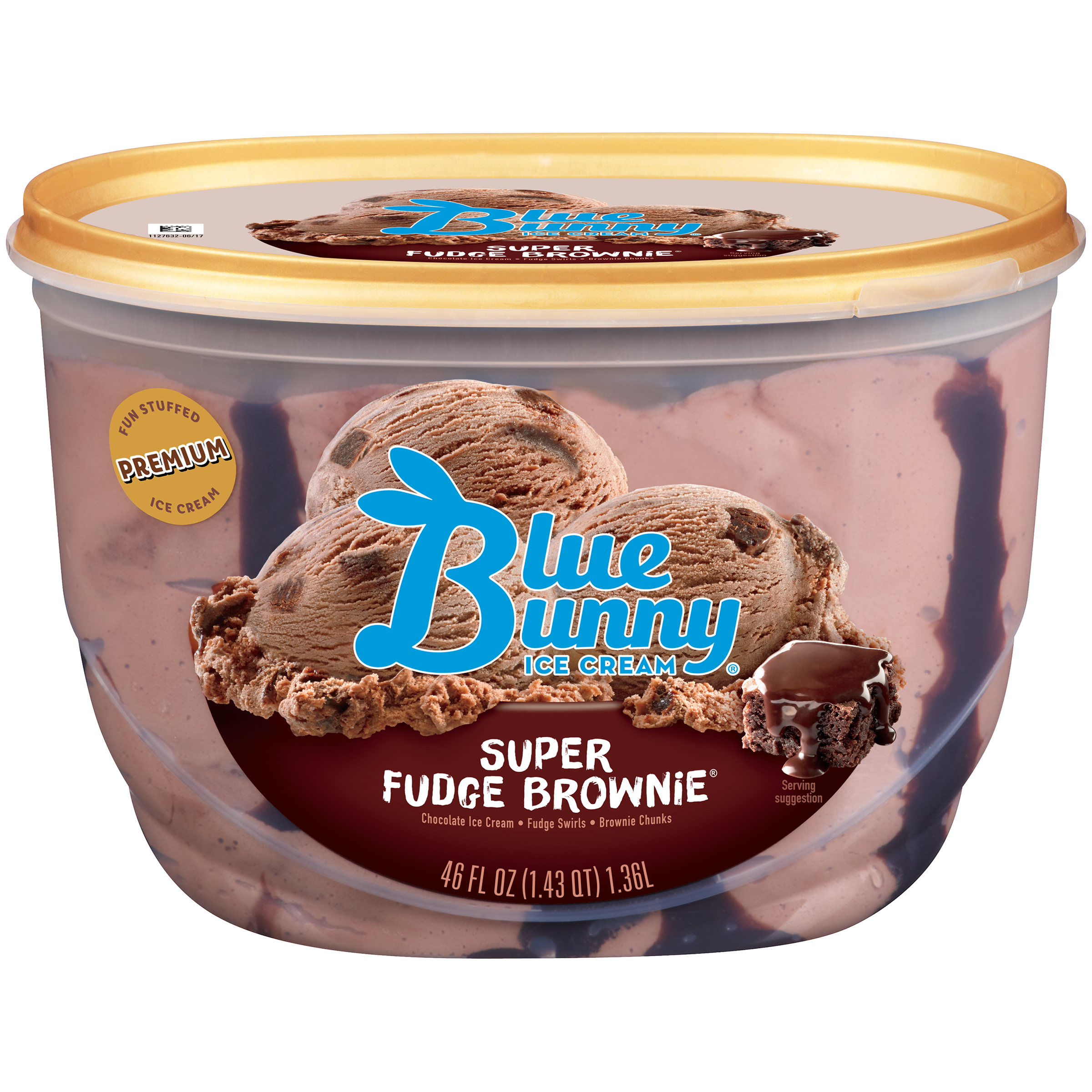 Blue Bunny Super Fudge Brownie Ice Cream, 46 fl oz