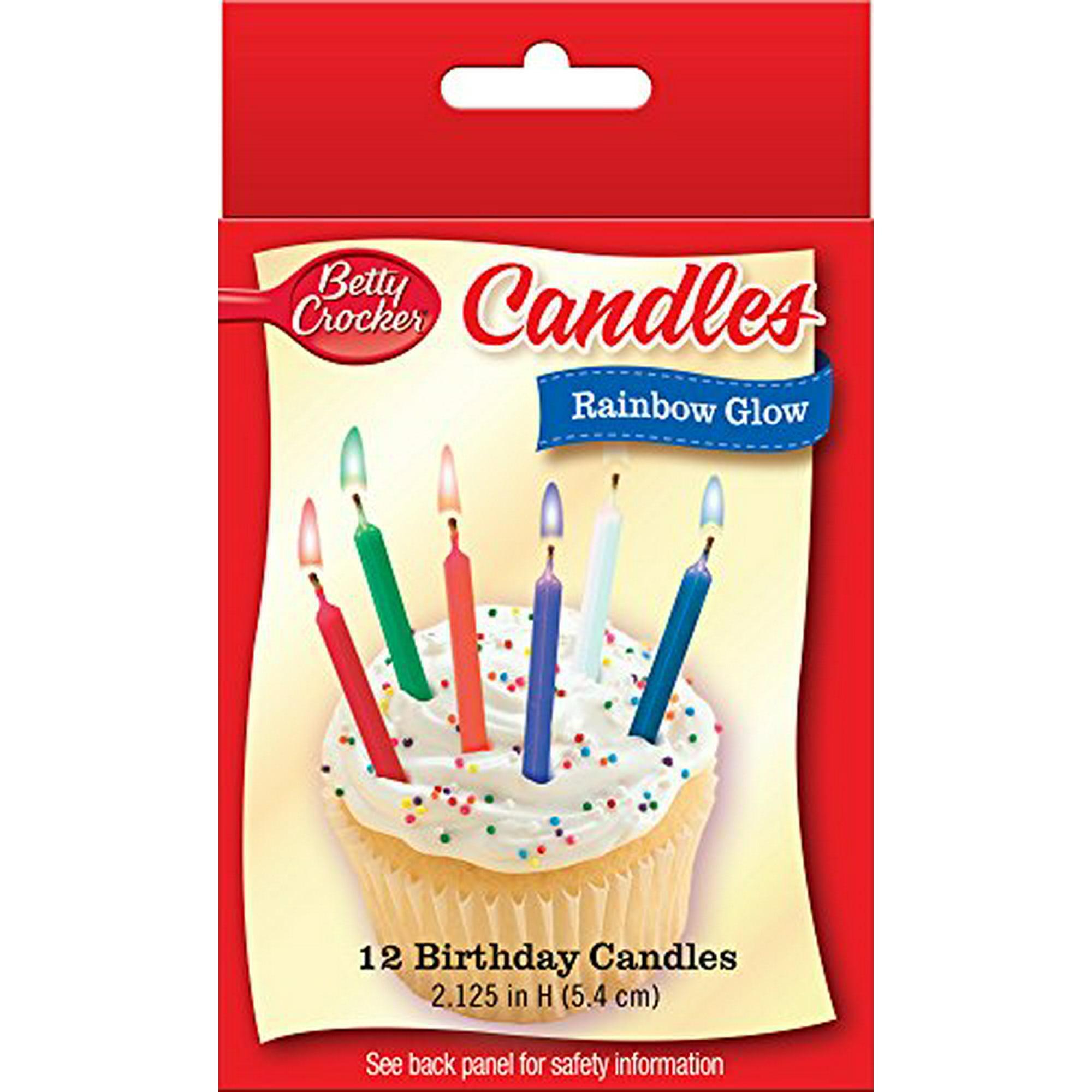 Fabulous Betty Crocker Rainbow Glow Birthday Candles Walmart Canada Birthday Cards Printable Inklcafe Filternl