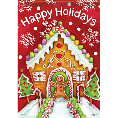 Carson Lg Flag-Gingerbread Holiday