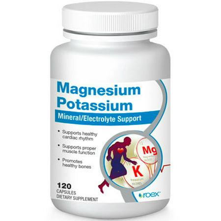 Magnésium Potassium 120 capsules par Roex