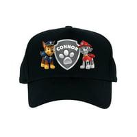 Personalized PAW Patrol Badge of Honor Black Kids Baseball Hat