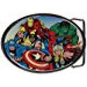 Jewel M Marvel Heroes Collage Round Belt Buckle