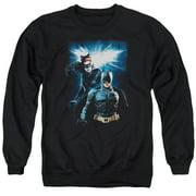 Dark Knight Rises Bat & Cat Mens Crewneck Sweatshirt