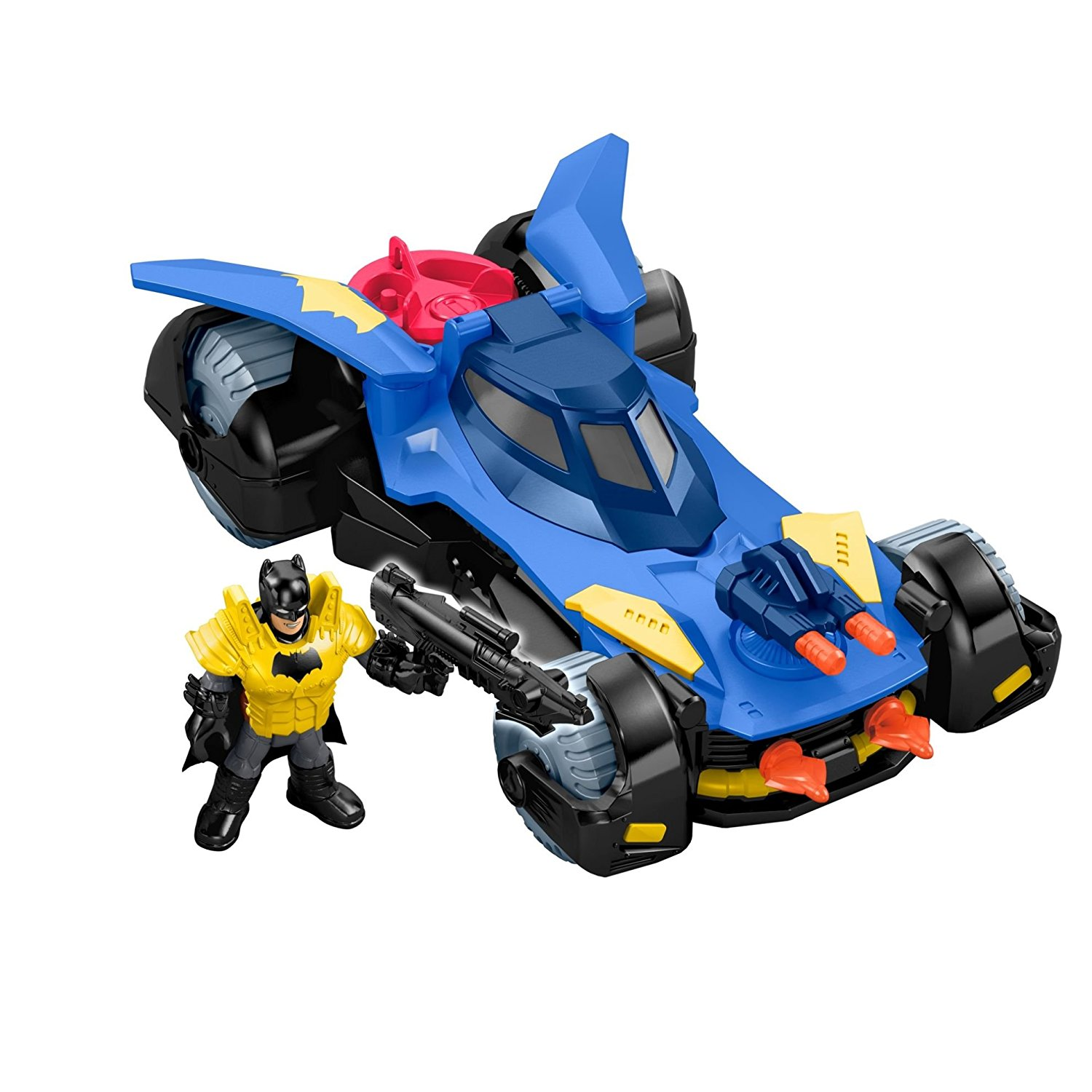 Fisher-Price Imaginext DC Super Friends, Batmobile, Open cockpit - Batman figure fits inside By FisherPrice Ship from US