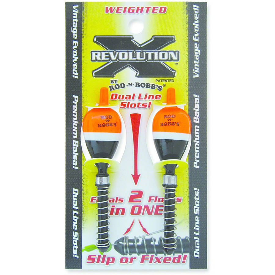 "Rod-N-Bobb's RevolutionX 3 4"" Weighted Stick Bobber, 2-Pack Shorty by ROD-N-BOBB'S"