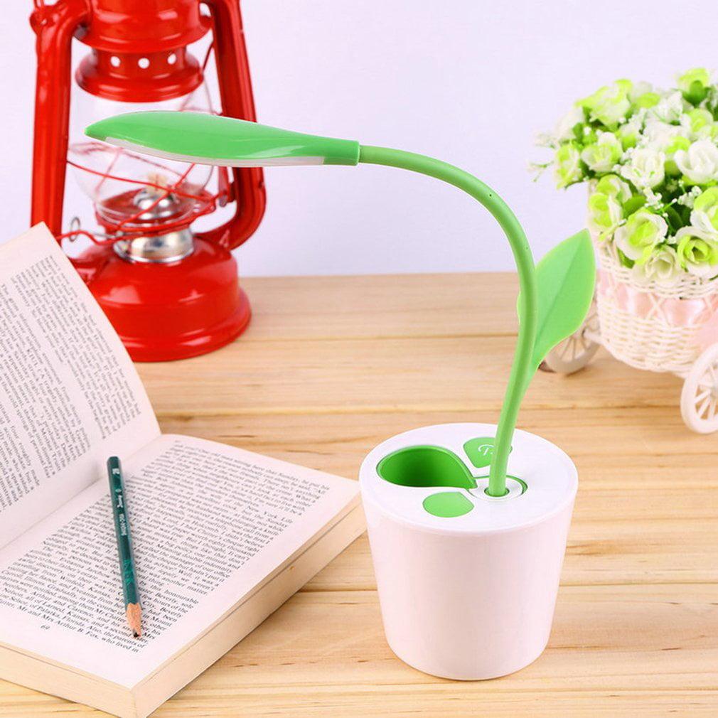 LED Desk Lamp 3 Level Brightness Table Eye Protect Light Sapling Pen Holder  | Walmart Canada