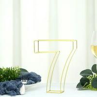 "Efavormart 8"" Tall Gold Wedding Centerpiece 3D Wire Letter Decoration"