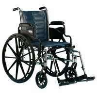 "Invacare Tracer IV Heavy Duty Bariatric Folding Wheelchair 20""x18"" w/ Footrests"