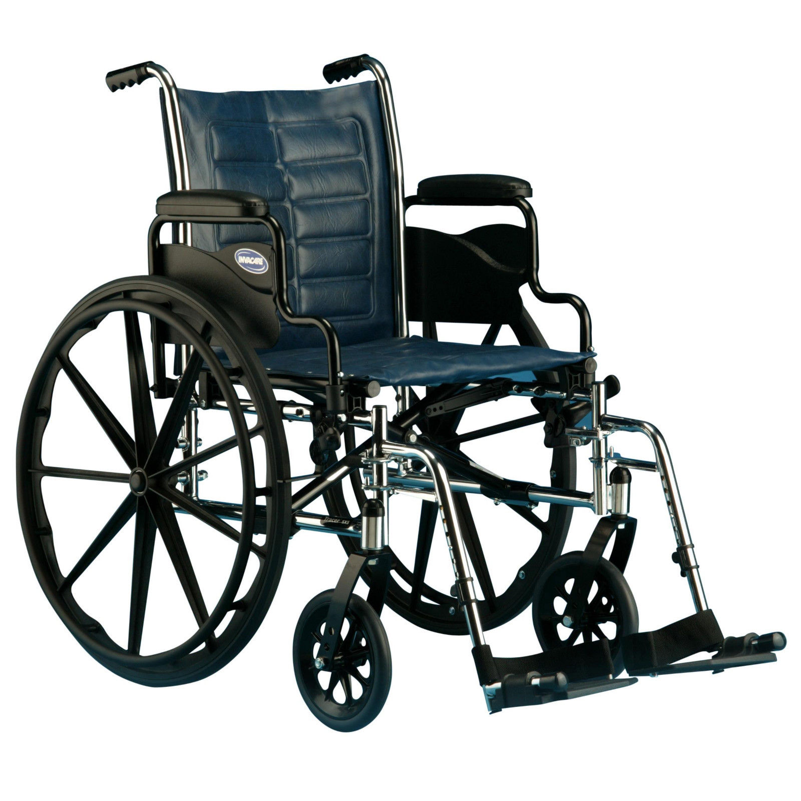 """Invacare Tracer IV Heavy Duty Bariatric Folding Wheelchair 20""""x18"""" w/ Footrests"""
