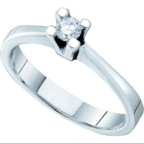 0.10Ctw Diamond Bridal Womens Fixed Ring Size - 7