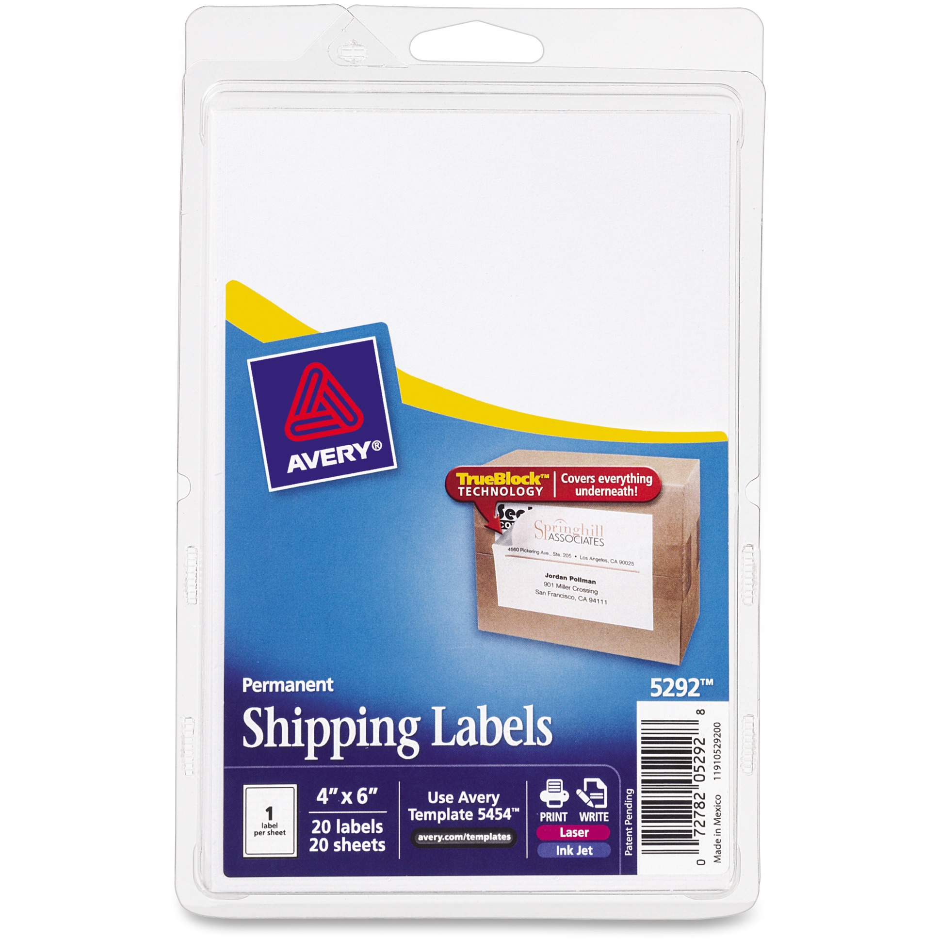 Avery Trueblock Technology Shipping Labels