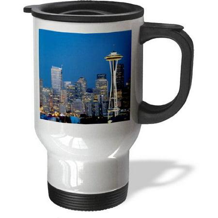 3dRose Space Needle, Seattle, Washington - US48 DFR0072 - David R. Frazier, Travel Mug, 14oz, Stainless Steel