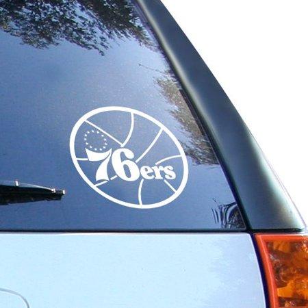 Philadelphia 76ers Logo Wall - Philadelphia 76ers White 8'' Logo Decal - No Size