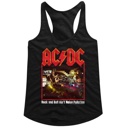 AC/DC Hard Rock Band Rock n Roll Ain't Noise Pollution On Stage Womens Tank Top - image 1 de 1
