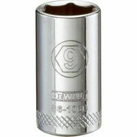 0.25 in. Drive, 9 mm 6 Point Polished Chrome Vanadium Steel Shallow Socket
