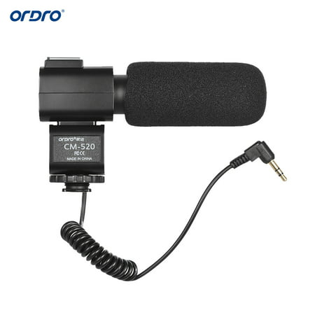 ORDRO CM-520 External Microphone Super Cardioid Electret Condenser Mic with Hot Shoe Mount for Canon Nikon Sony DSLR Digital Video Camera Camcorder - image 3 of 7