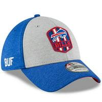 Buffalo Bills New Era 2018 NFL Sideline Road Official 39THIRTY Flex Hat - Heather Gray/Royal