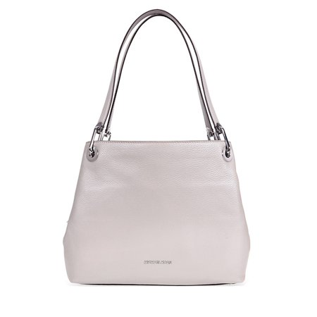 2941d09f943c Michael Kors - Michael Kors Raven Large Pebbled Leather Shoulder Bag- Pearl  Grey - Walmart.com