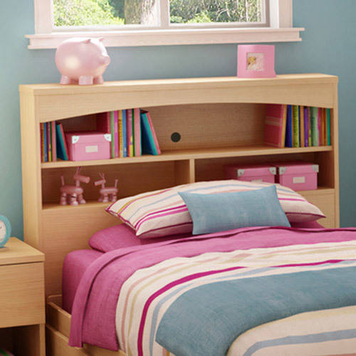 South Shore Bookcase Twin Headboard, Natural Maple
