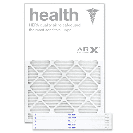 AIRx Filters Health 20x30x1 Air Filter MERV 13 AC Furnace Pleated Air Filter Replacement Box of 6, Made in the USA