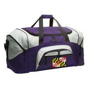 Broad Bay Maryland Flag Duffel Bag or Maryland Gym Bags