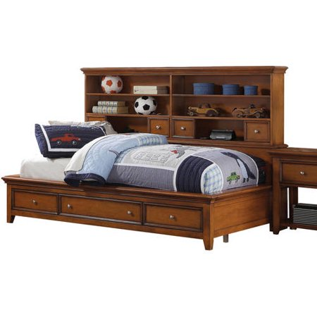 acme lacey twin daybed with storage cherry oak. Black Bedroom Furniture Sets. Home Design Ideas