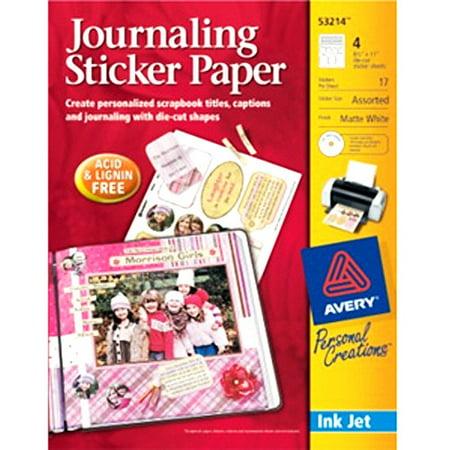 Fabulous image regarding printable sticker paper walmart