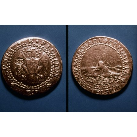 Currency US Coin 1787 Nunited States Gold Doubloon By Ephraim Brasher 1787 Rolled Canvas Art -  (24 x 36)](Gold Doubloons)