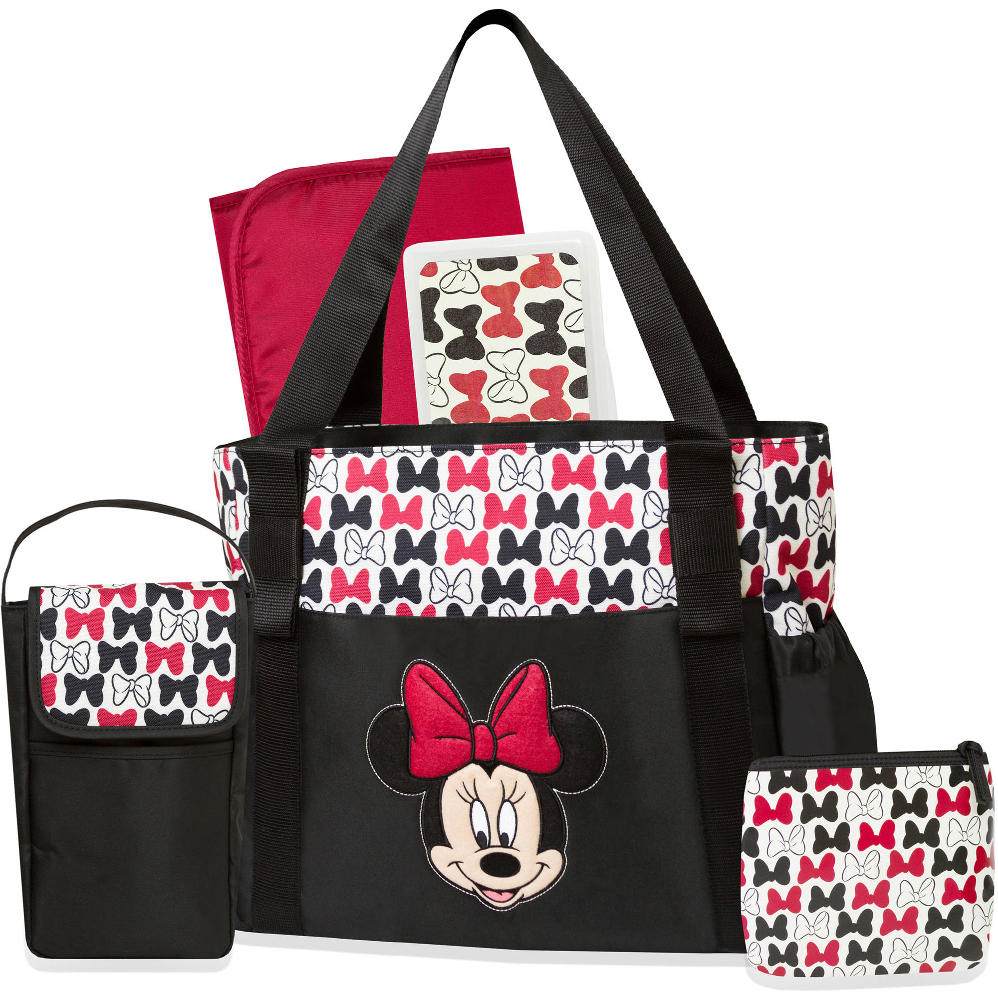 Disney Minnie Mouse Black Bow 5-in-1 Diaper Bag