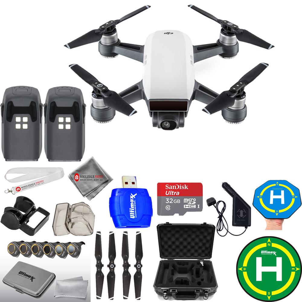UNASSIGNED DJI Spark Quadcopter MEGA 2 BATTERY BUNDLE WITH ALUMINUM CARRY CASE PLUS MORE