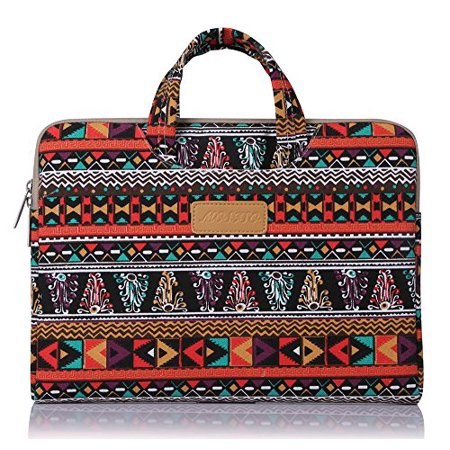 Laptop Briefcase, Bohemian Style Canvas Fabric 11-11.6 Inch Carry Case for Acer Chromebook 11 / HP Stream 11 / Samsung Chromebook 2 / Notebook Computer / MacBook Air, Phoenix