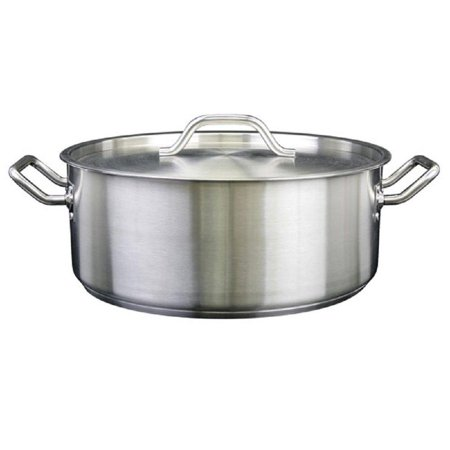 Brazier With Lid 188 Stainless Steel Multiple Sizes 15 Qt To 30 Qt