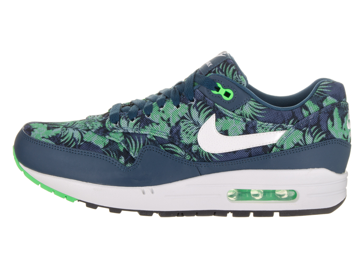 huge discount 408d9 e76d1 Nike - Nike Air Max 1 GPX Floral Space Blue - White - Black Jade 684174-400  - Walmart.com
