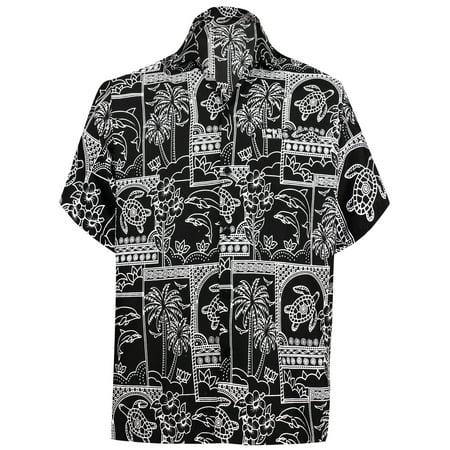 3bb27852 Hawaiian Shirt Mens Beach Aloha Camp Party Casual Holiday Tropical Shirt  Palm Tree Print P