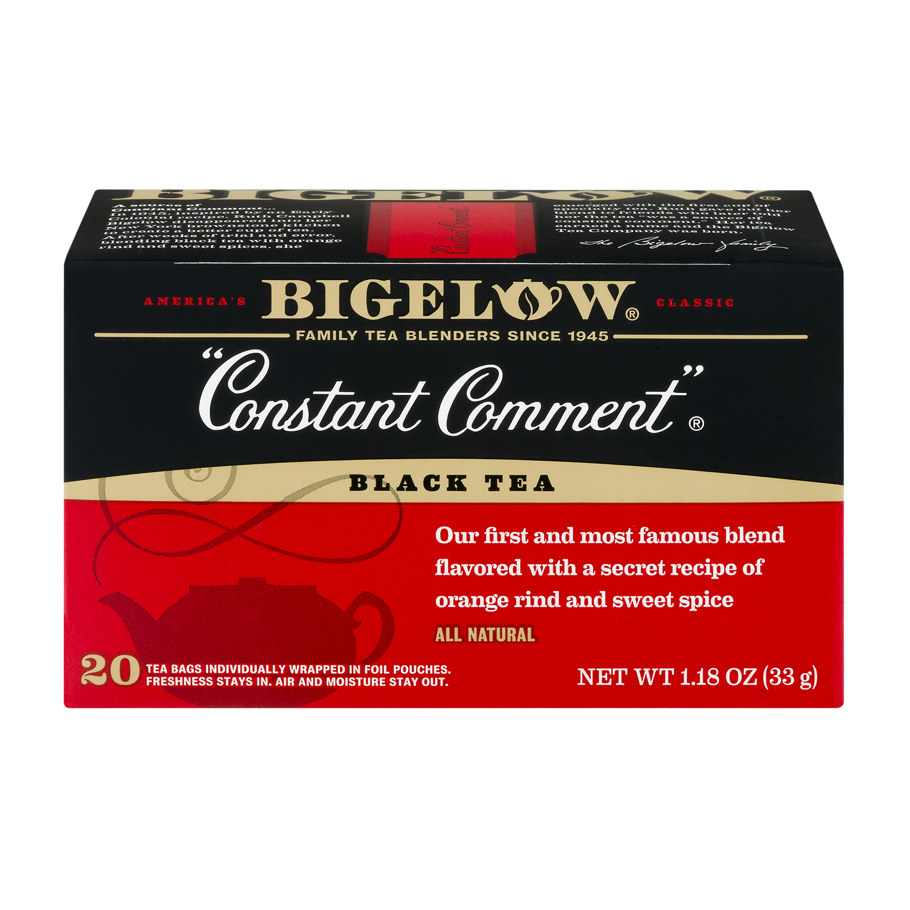 Bigelow Black Tea Constant Comment - 20 CT