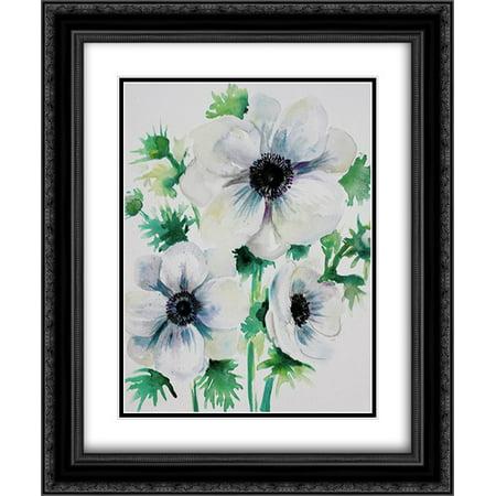 Ghost Blooms 3 2X Matted 20X24 Black Ornate Framed Art Print By Boho Hue Studio