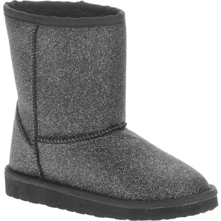 Faded Glory Girls' Sparkle Lug Sole Boot - Girl In Red Boots