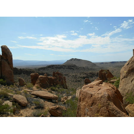 Canvas Print Trail Nature Landscape Hiking Sky Blue Sky Desert Stretched Canvas 10 x