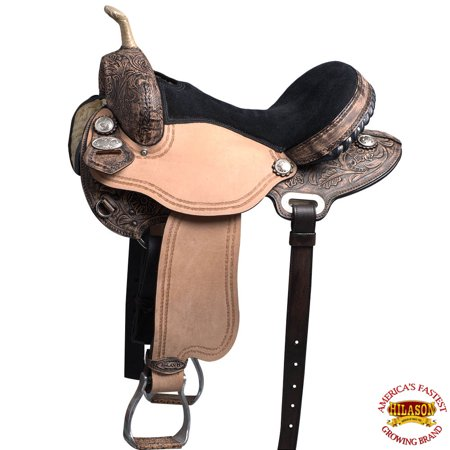 14 15 16 17 in Western Horse Saddle American Leather Flex Trail Barrel Racing Hilason Advantage Leather Saddle