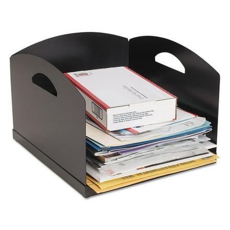 Big Stacker Inbox Desk Tray  Single Tier  11 X 12 X 8  Black