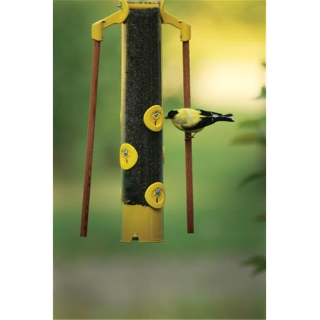 PineBush PINE04947 18 inch Finch Feeder with Dowels-Yellow