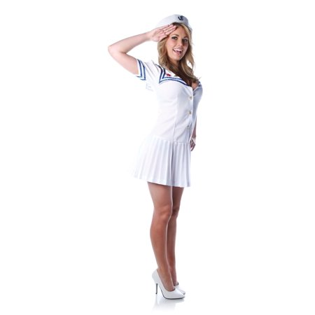 FIRST MATE sailor boat sexy womens halloween costume Medium (Womans Sailor Costume)